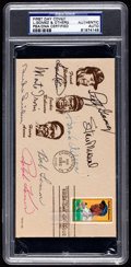 Baseball Collectibles:Others, Baseball Hall of Famers Signed First Day Cover....