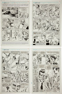 Jose Delbo and Mike DeCarlo Brute Force #3 Page Original Art Group (Marvel, 1990).... (Total: 12 Items)