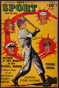 "Baseball Collectibles:Publications, 1946 ""True Sport Picture Stories"" Comic Book - With DiMaggio onCover...."
