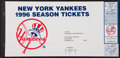 Baseball Collectibles:Tickets, 1996 New York Yankees Season Tickets Complete Set (81 Tickets)....