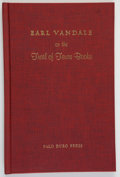 Books:Americana & American History, J. Evetts Haley. SIGNED. Earl Vandale on the Trail of TexasBooks. Canyon, Texas: Palo Duro Press, 1965. First e...