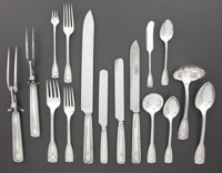A ONE HUNDRED FORTY-SEVEN PIECE AMERICAN SILVER FLATWARE SERVICE IN ORIGINAL FITTED CHEST Tiffany & Co., New York
