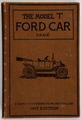 Books:Americana & American History, Victor W. Pagé. The Model T Ford Car. Its Construction,Operation and Repair. New York: Norman W. Henley, 1917. ...