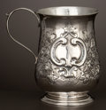 Silver Holloware, British, A GEORGE III SILVER HANDLED CUP . James Stamp and John Baker I,London, England, circa 1769-1770. Marks: (lion passant), (le...
