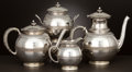 Silver Holloware, American:Tea Sets, AN AMERICAN SILVER AND SILVER GILT FOUR-PIECE TEA AND COFFEESERVICE . Gorham Manufacturing Co., Providence, Rhode Island, c...