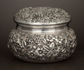 Silver Holloware, American:Boxes, AN AMERICAN SILVER REPOUSSÉ BOX . Jacobi & Jenkins, Baltimore,Maryland, circa 1880. Marks: JACOBI & JENKINS MAKERSBALTIM... (Total: 2 Items)