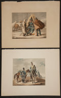 Books:Prints & Leaves, Hjalmar Mörner, artist. Three Hand-Colored Plates of VariousEuropean Soldiers, Ca. 1836. From a work produced in Sweden sho...(Total: 3 Items)