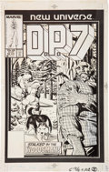 Original Comic Art:Covers, Paul Ryan D.P.7 #10 Cover Original Art (Marvel, 1987)....