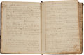 Autographs, [Slavery] Ledger Belonging to George Chapman Containing Copies of all Wills, Deeds, and Sale Transactions Pertaining to His Pr...