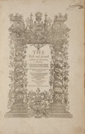 Books:Literature Pre-1900, [Shakespeare Source Book]. [Raphael Holinshed, William Harrison].The First and second volumes of Chronicles,...