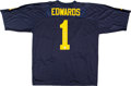 Football Collectibles:Uniforms, Braylon Edwards Signed Jersey....