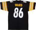 Football Collectibles:Uniforms, Hines Ward Signed Jersey....