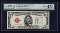Small Size:Legal Tender Notes, Fr. 1530 $5 1928E Mule Legal Tender Note. PMG Choice Extremely Fine 45 EPQ.. ...