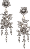 Estate Jewelry:Earrings, Victorian Diamond, Gold Earrings. ...