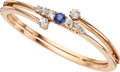 Estate Jewelry:Bracelets, Victorian Revival Diamond, Sapphire, Gold Bracelet. ...