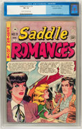 Golden Age (1938-1955):Romance, Saddle Romances #9 Canadian Edition (EC, 1949) CGC FN- 5.5 Cream tooff-white pages....