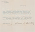 "Autographs:Celebrities, Susan B. Anthony Typed Letter Signed ""Susan B. Anthony""...."