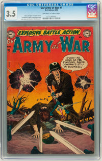 Our Army at War #1 (DC, 1952) CGC VG- 3.5 Off-white to white pages