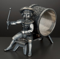 AN AMERICAN SILVER PLATED FIGURAL NAPKIN RING William Rogers Mfg. Co., Hartford, Connecticut, circa 1875 Marks