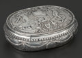 Silver Holloware, Continental:Holloware, A CONTINENTAL SILVER AND SILVER GILT REPOUSSÉ BOX . Makerunidentified, possibly Hanau, Germany, circa 1870. Marks:(effaced...