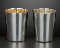 TWO AMERICAN SILVER AND SILVER GILT CUPS Tiffany & Co., New York, New York, circa 1950 Marks: TIFFANY & CO