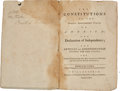 Books:Americana & American History, [Bushrod Washington]. [American Constitutions]. TheConstitutions of the Several Independent States of America; TheDecl...