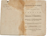 [Bushrod Washington]. [American Constitutions]. The Constitutions of the Several Independent States of America;
