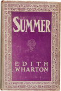 Books:Literature 1900-up, Edith Wharton. Summer. New York: D. Appleton and Co., 1917..First edition. Octavo. 291 pages.. Publishe...