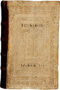 Books:Early Printing, Gritsch Conradus. Quadragesimale. [Nuremberg: AntonKoberger, 1481]....