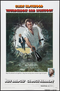 """Thunderbolt and Lightfoot (United Artists, 1974). One Sheet (27"""" X 41""""). Style A. Crime"""
