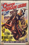 """Movie Posters:Action, The Charge of the Light Brigade (Warner Brothers, R-1950s). Belgian (14"""" X 19""""). Action.. ..."""