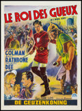 """Movie Posters:Adventure, If I Were King (Paramount, R-1950s). Belgian (14"""" X 19"""").Adventure.. ..."""