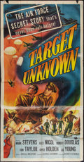 "Movie Posters:War, Target Unknown (Universal International, 1951). Three Sheet (41"" X81""). War.. ..."