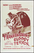 "Movie Posters:Horror, Frankenstein's Bloody Terror (Independent International Pictures, 1971). One Sheet (27"" X 41""). Horror.. ..."