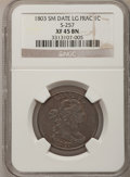 Large Cents, 1803 1C Small Date, Large Fraction XF45 NGC. S-257, B-16, R.2....