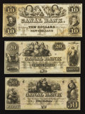 Obsoletes By State:Louisiana, New Orleans, LA- New Orleans Canal & Banking Co. $10; $20; $50. ... (Total: 3 notes)