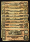 Confederate Notes:1864 Issues, T68 $10 1864.. ... (Total: 10 notes)