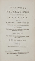 Books:Science & Technology, W. Hooper. Rational Recreations. London: B. Law and Son andG. G. and J. Robinson, 1794. Fourth edition, corrected.... (Total:4 Items)