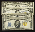 Small Size:World War II Emergency Notes, Fr. 2309 $10 1934A North Africa Silver Certificates. Four Examples. Very Fine or Better.. ... (Total: 4 notes)