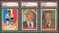 Baseball Cards:Autographs, 1960 Fleer and 1961 Topps Al Lopez, Warren Giles and Ford Frick Signed Cards Lot of 3....