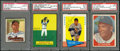 Baseball Cards:Autographs, 1950-64 Baseball Greats Signed Cards Lot of 4....