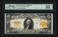 Large Size:Gold Certificates, Fr. 1187 $20 1922 Gold Certificate PMG About Uncirculated 53.. ...