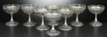 Silver Holloware, Continental:Holloware, A SET OF GERMAN SILVER AND GLASS SHERBET CUPS . Maker unidentified,Hanau, Germany, circa 1900. Marks: G (crowned), P...(Total: 16 Items)