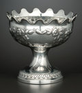 Silver Holloware, Continental:Holloware, A CONTINENTAL SILVER FOOTED BOWL . Maker unidentified, circa 1920.Marks: SK, 11 (over) 12. 5-5/8 x 6 inches (14.3 x 15.2 cm...