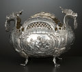 Silver Holloware, Continental:Holloware, A GERMAN SILVER AND SILVER GILT FIGURAL REPOUSSÉ BOWL . Makerunidentified, Hanau, Germany, circa 1870. Marks: (effaced). 5...
