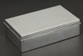 Silver Holloware, American:Boxes, AN AMERICAN SILVER AND SILVER GILT BOX WITH WOOD LINING . Tiffany& Co., New York, New York, circa 1936. Marks: TIFFANY &...