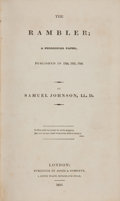 Books:Literature Pre-1900, Samuel Johnson. The Rambler. London: Jones & Company,1826. [bound with] The Idler. London: Jones & Comp...