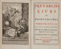 Books:World History, Plutarch. Plutarch's Lives in Eight Volumes. London: J.Tonson, 1727. First thus. Eight octavo volumes. Engraved fro...(Total: 8 Items)