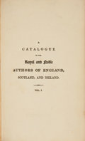 Books:Literature Pre-1900, Horatio Walpole. A Catalogue of the Royal and Noble Authors ofEngland, Scotland, and Ireland; Enlarged and Contin...(Total: 5 Items)