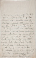 "Books:Literature 1900-up, Ernest Hemingway. Manuscript Pages for ""a story about poker.""..."